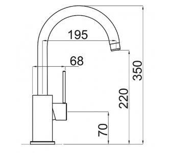 batéria drezová granitová Sinks VITALIA - 54 Truffle