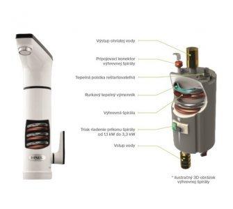 HAKL OBR 330 3,3kW el. priamoohrevná vodovodná batéria
