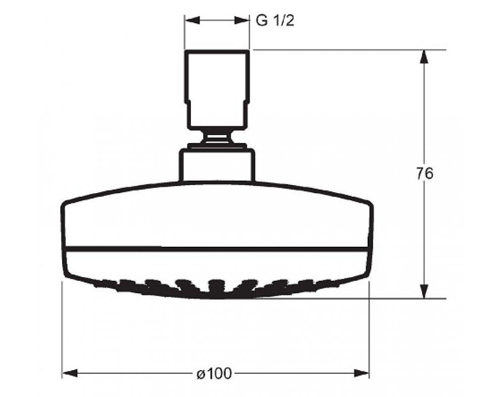 Sprchová hlavica okrúhla s malým podielom aerosólu, priemer 100mm , HANSAMEDIJET