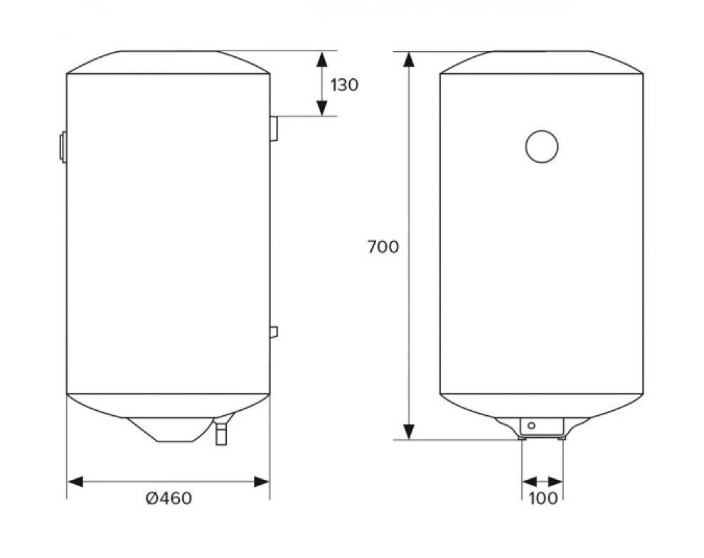 HAKL BI 80v zásobníkový ohrievač vody