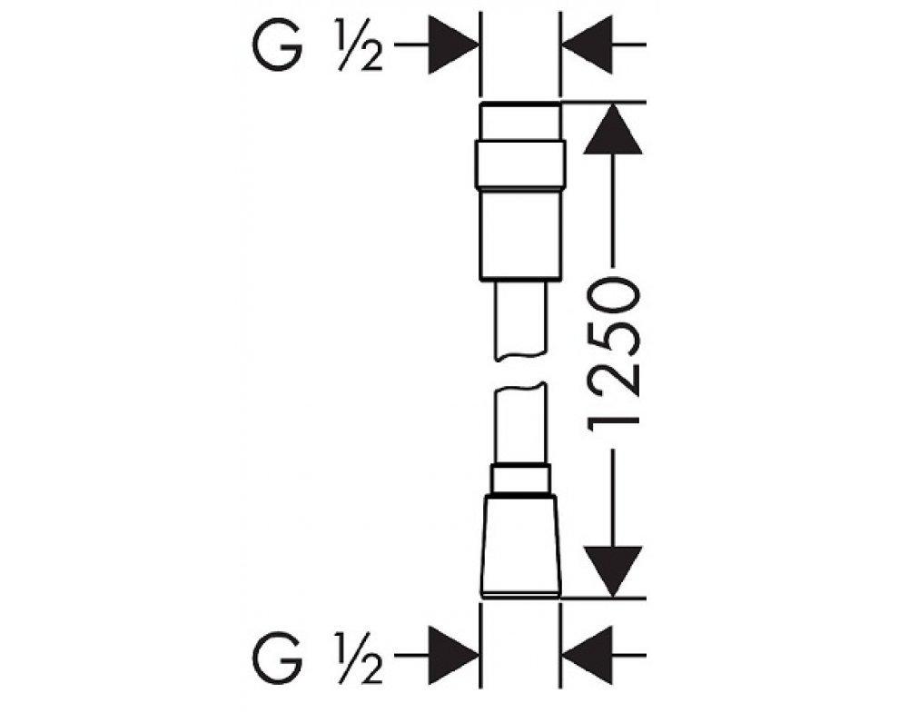 Sprchová hadica ISIFLEX s reguláciou prietoku, 125cm, chróm