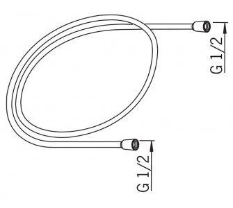 sprchová hadica, dĺžka 1600mm, HANSAJET