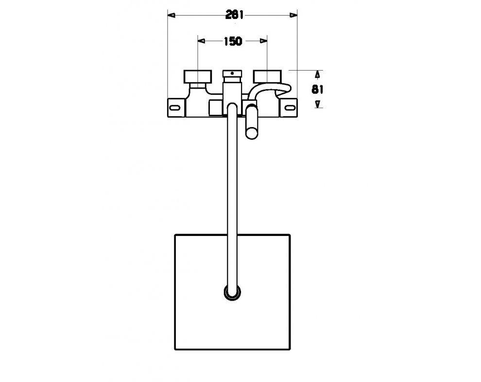 sprchová termostatická batéria HANSAPRISMA s priamo pripojeným sprchovým systémom
