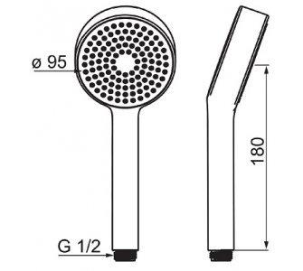 Ručná sprcha, 1-polohová HANSABASICJET