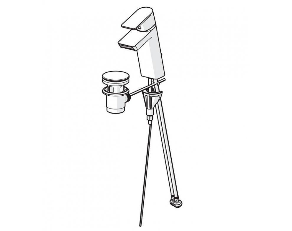 batéria umývadlová stojanková, s odtokovou garnitúrou, HANSASTELA, chróm