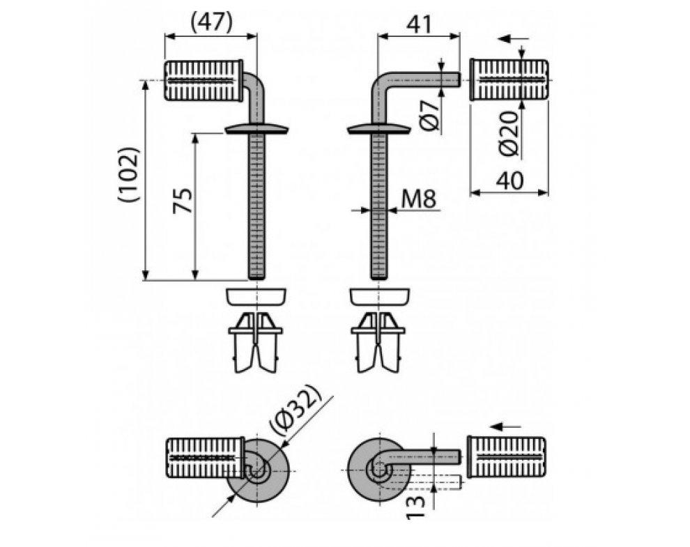 Náhradné pánty pre WC sedadlo A601