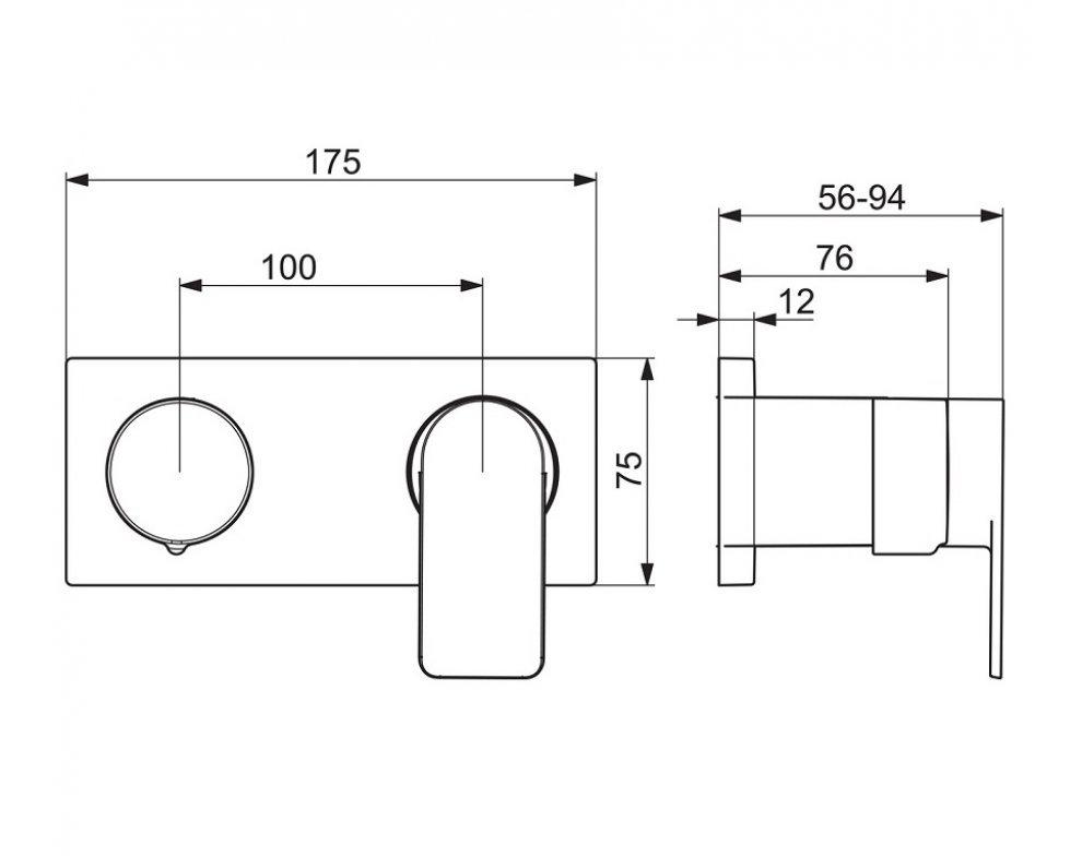batéria sprchová podomietková, HANSASTELA, chróm