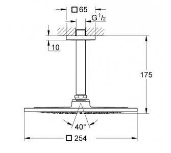 hlavová sprcha 254 x 254 mm Rainshower F-series