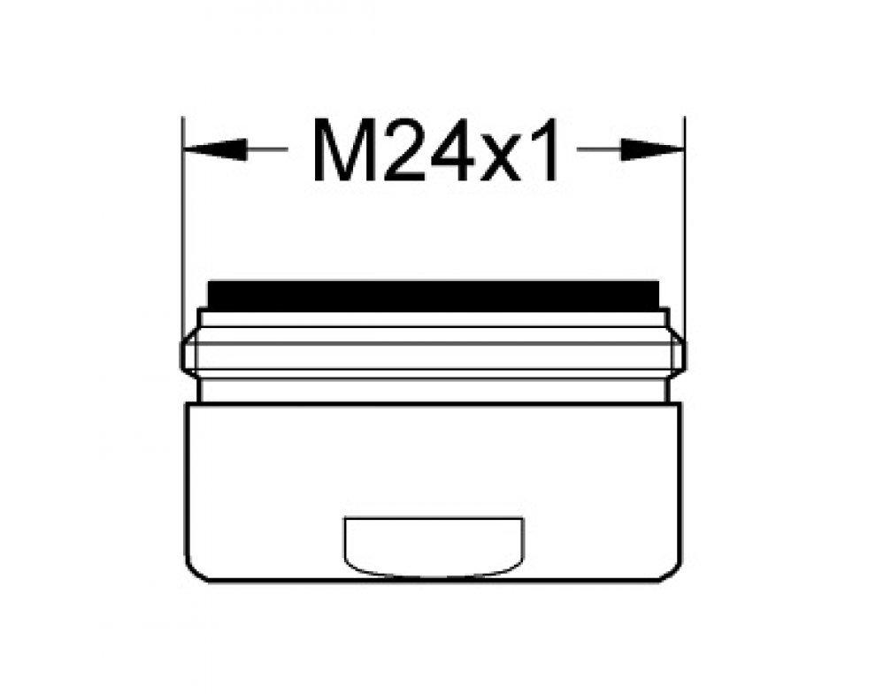 Perlátor úsporný, prietok 30 l/min, vonkajší závit M24x1, chróm