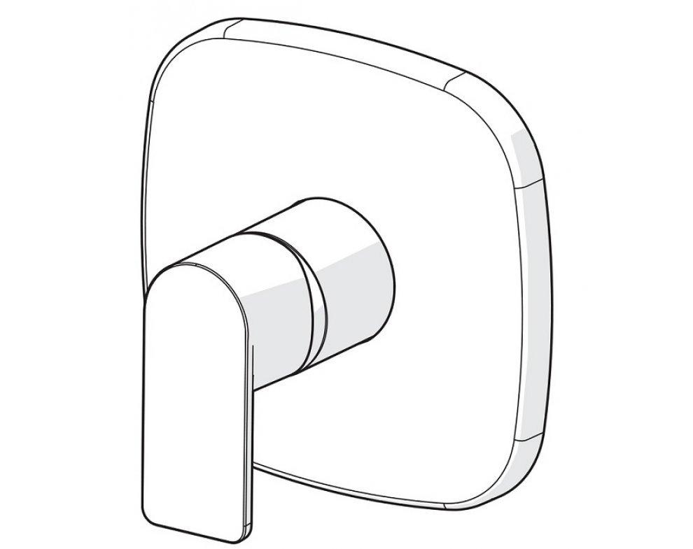 batéria sprchová podomietková, pre 1 odberné miesto, soft edge rozeta, HANSASTELA, chróm