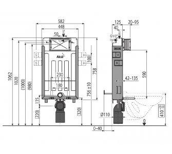 Renovmodul - Predstenový inštalačný systém pre zamurovanie, S DÁVKOVAČOM TABLIET