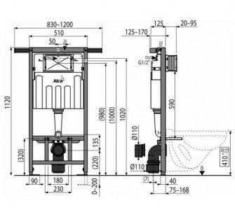 SET Jadromodul AM102/1120+M1710+WC RIMFLOW+A604+M91, S DÁVKOVAČOM TABLIET