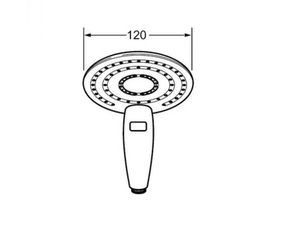 Ručná sprcha 2-polohová, HANSAPUREJET