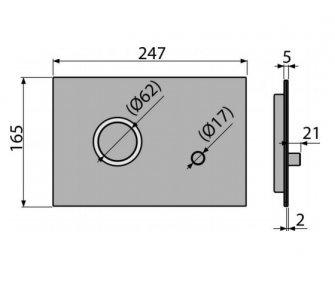 Ovládací tlačítko pro předstěnové instalační systémy, alunox – mat/lesk