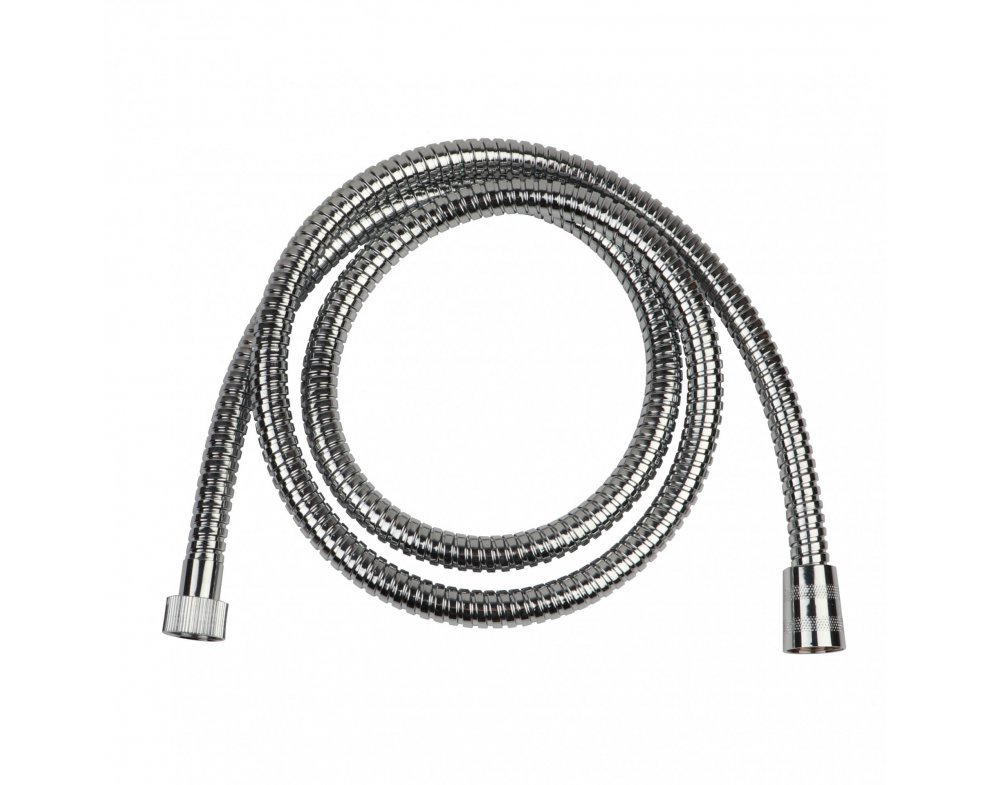 sprchová hadica kovová, trojvrstvová s otočnou koncovkou, dĺžka 150cm, blister, CHRÓM