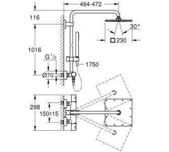 Sprchový systém Euphoria XXL 230