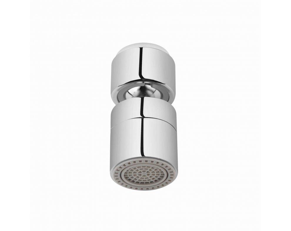 sporič vody-perlátor 2-polohový, naklápateľný, kovový, CHRÓM