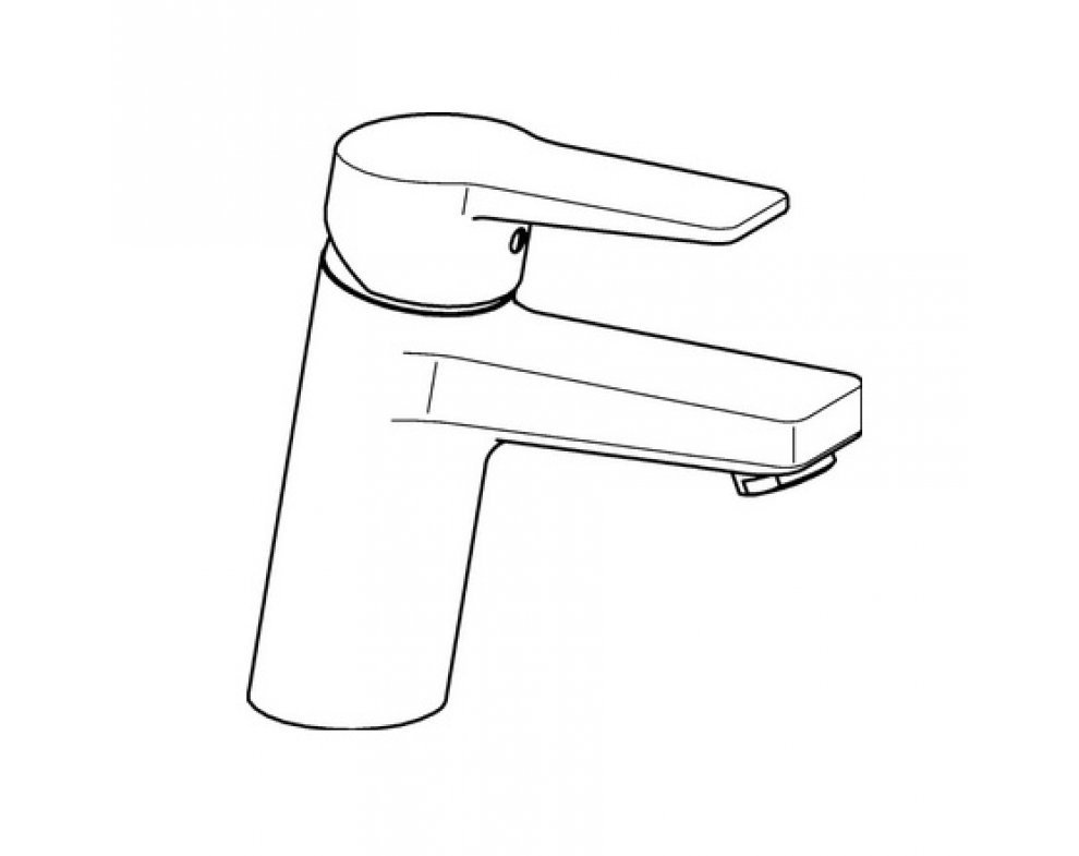 batéria umývadlová stojanková bez odtok.garnitúry, HANSATWIST