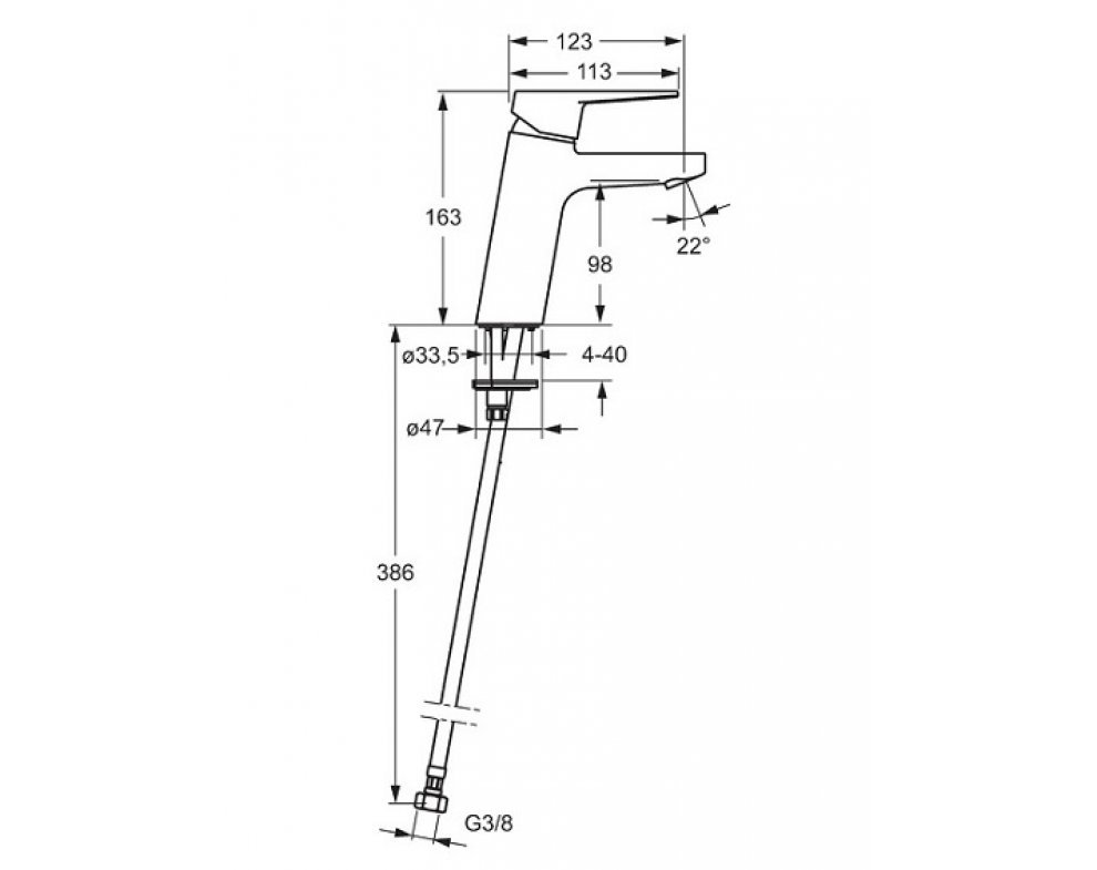 batéria umývadlová stojanková bez odtok. garnitúry, XL, HANSATWIST