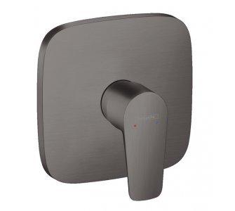batéria sprchová podomietková pre 1 odberné miesto, TALIS E, kefovaný čierny chróm