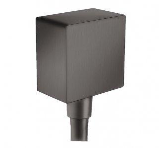 prípojka hadice Square so spätným ventilom, FixFit, kefovaný čierny chróm