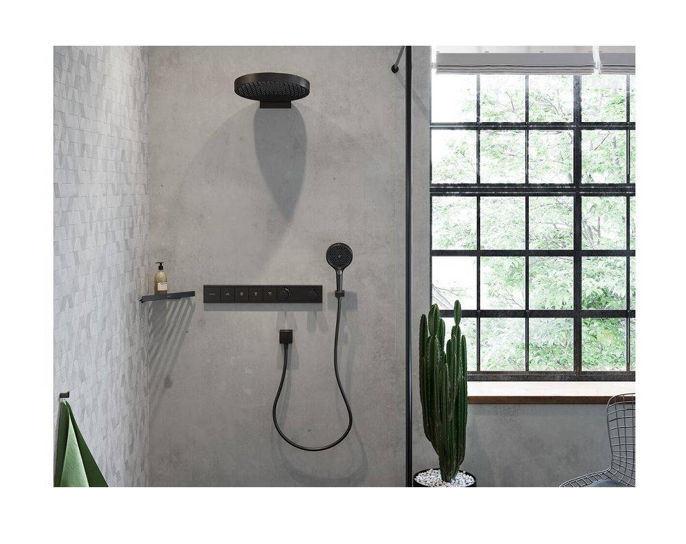 ručná sprcha 3-polohová, d132mm,  RAINFINITY, kefovaný čierny chróm
