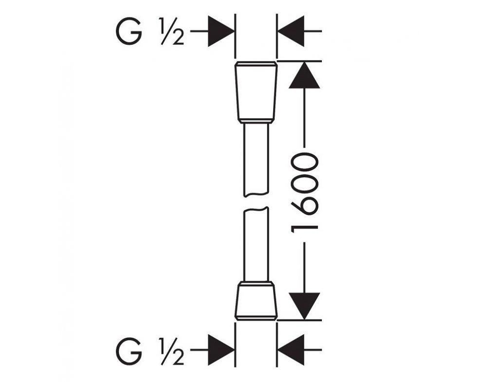 sprchová hadica 1600mm, ISIFLEX, kefovaný čierny chróm
