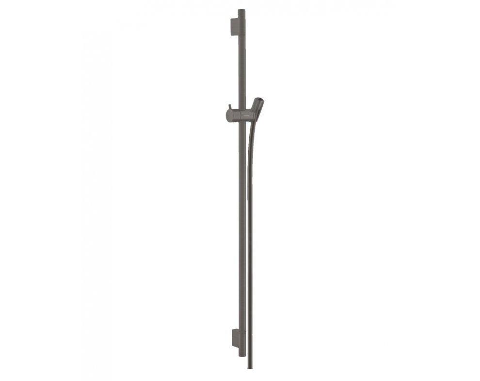 sprchová tyč 900 mm so sprchovou hadicou 1600mm, UNICA´S Puro, kefovaný čieny chróm