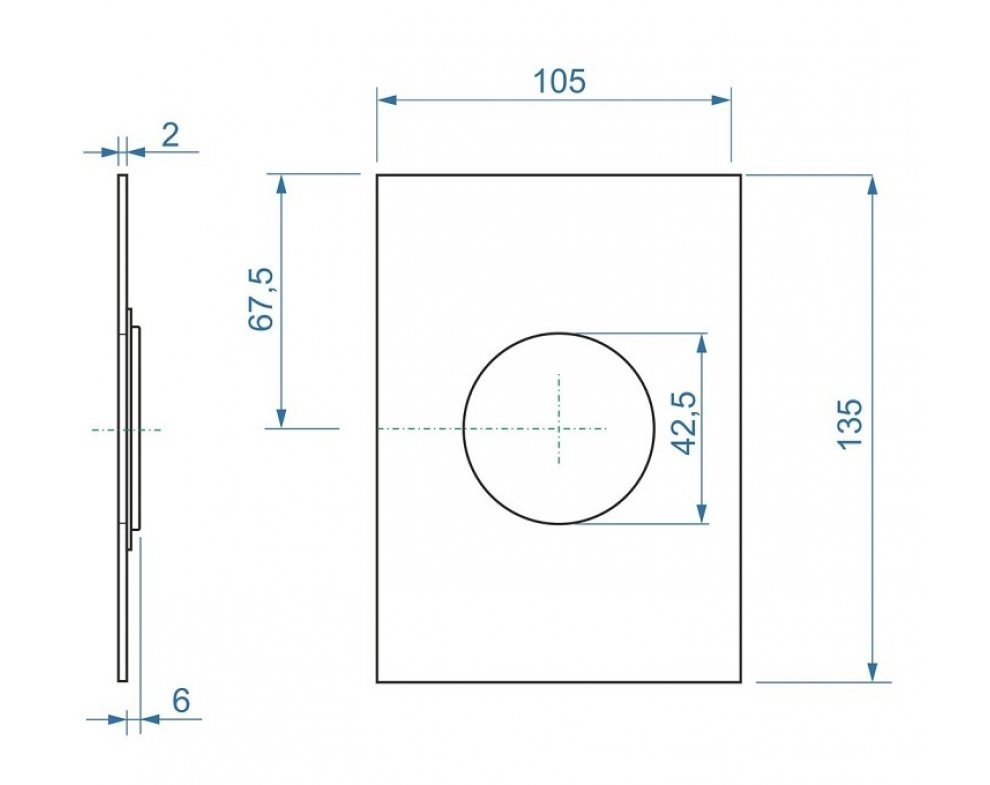 Hranatá krytka pre podomietkovú sprchovú batériu k AQ-BOX-06-35