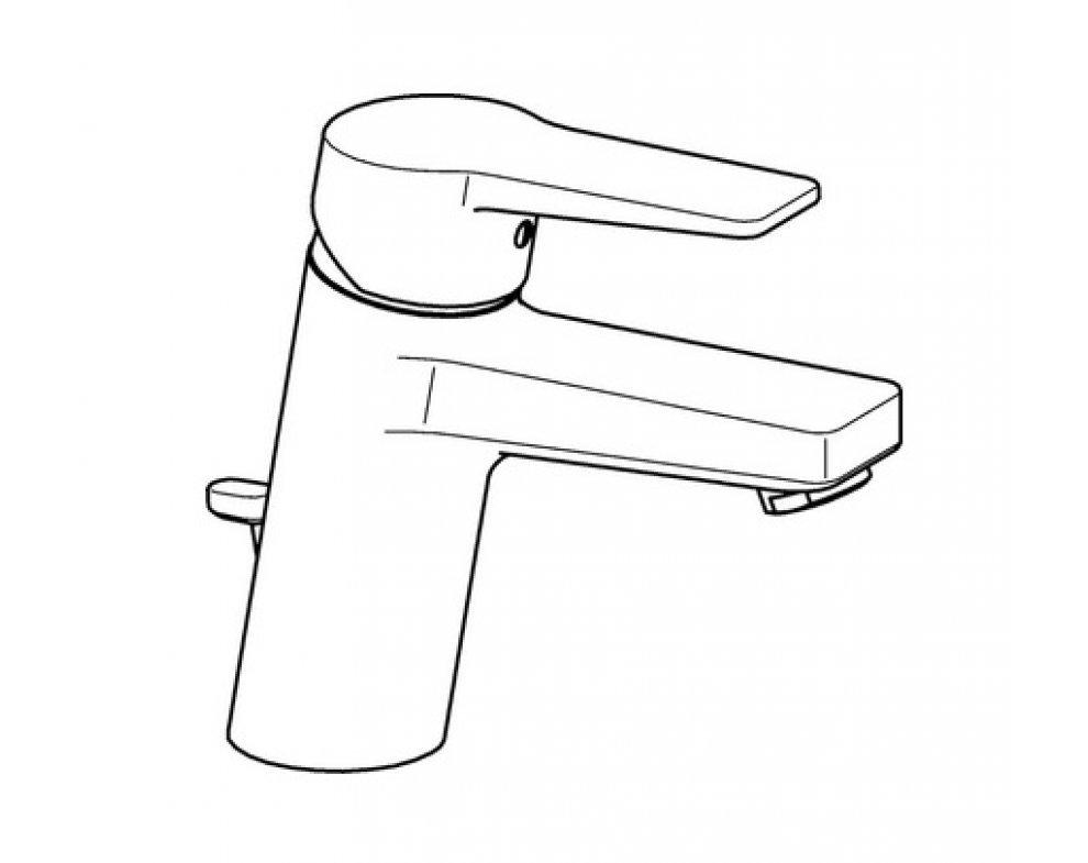 batéria umývadlová stojanková s odtok. garnitúrou, HANSATWIST