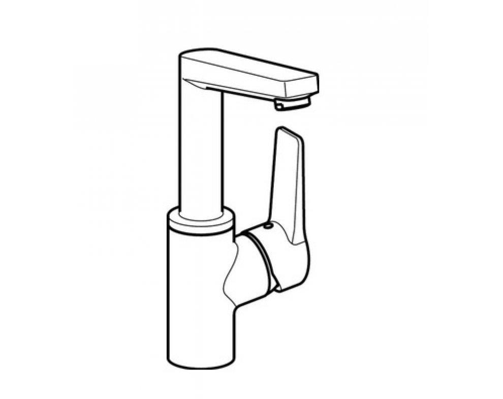 batéria umývadlová stojanková bez odtok. garnitúry, HANSATWIST