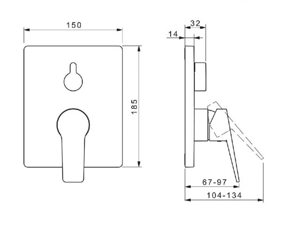 batéria sprchová podomietková pre 2 odberné miesta, HANSATWIST