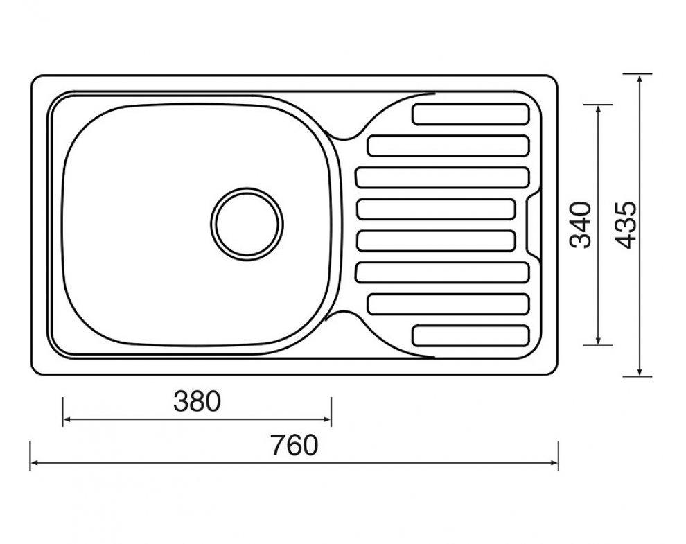 drez nerezový Sinks CLASSIC 760 M 0,5mm matný