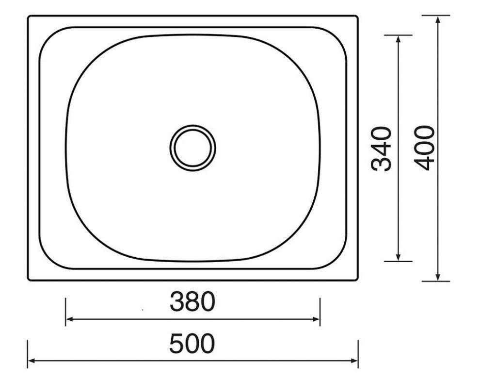 drez nerezový Sinks CLASSIC 500 V 0,5mm matný