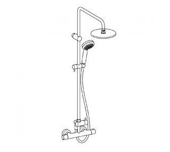 sprchový termostatický systém, HANSAUNITA