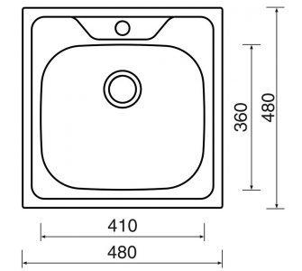 drez nerezový Sinks CLASSIC 480 V 0,5mm matný