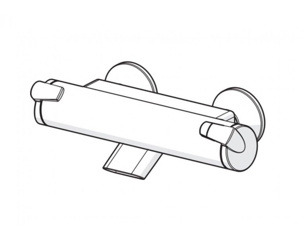 sprchová termostatická batéria HANSAFIT