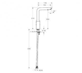 52202207  HANSAVANTIS STYLE jednootvorová páková batéria pre drez