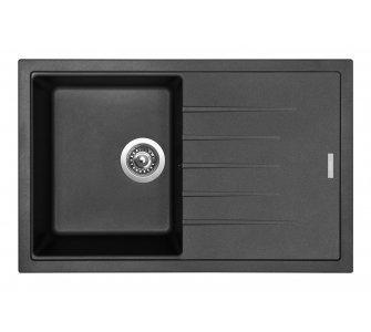 SET drez granitový Sinks BEST 780 Metalblack + batéria stojanková VITALIA Metalblack