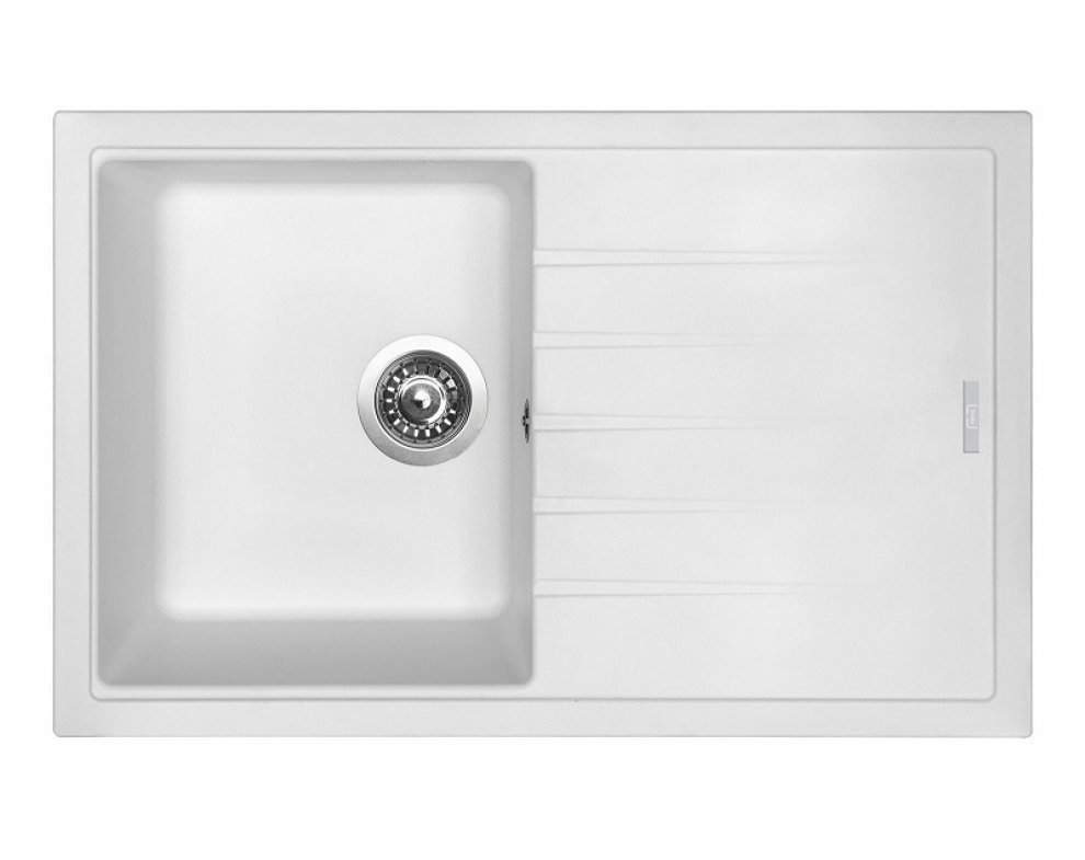 SET drez granitový Sinks BEST 780 Milk + batéria stojanková VITALIA Milk