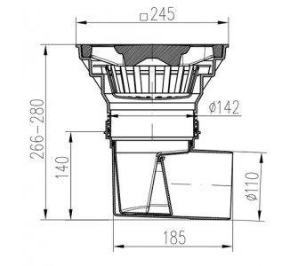 KV-boční D110/250 suchá-LITINA