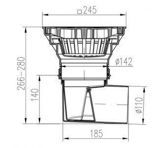 KV-boční D110/250 suchá-plast