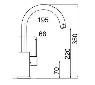SET drez granitový Sinks BEST 780 Titanium + batéria stojanková VITALIA Titanium
