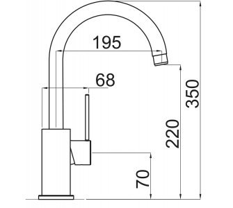 SET drez granitový Sinks BEST 780 Truffle + batéria stojanková VITALIA Truffle