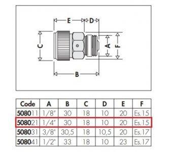 Hygroskopický automatický odvzdušňovací ventil 1/4