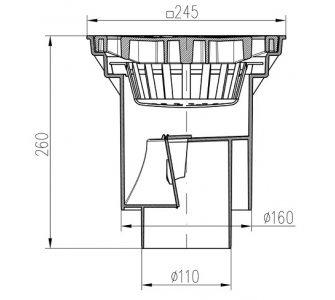 KV-spodní D160 suchá-plast