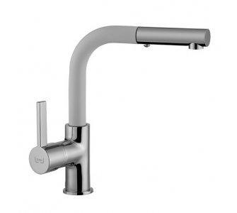 SET drez granitový Sinks PERFECTO 1000 Milk + batéria so sprškou ENIGMA S Milk