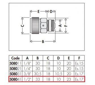 Hygroskopický automatický odvzdušňovací ventil 1/2