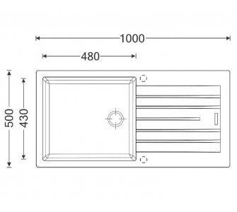 SET drez granitový Sinks PERFECTO 1000 Sahara + batéria so sprškou ENIGMA S Sahara