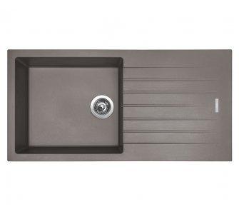 SET drez granitový Sinks PERFECTO 1000 Truffle + batéria so sprškou ENIGMA S Truffle